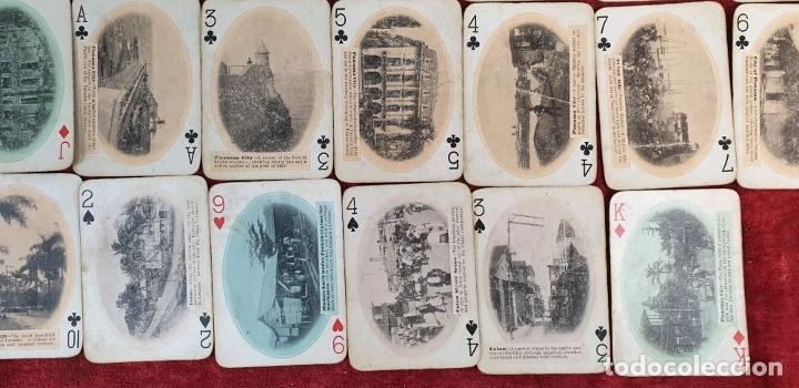 Barajas de cartas: JUEGO DE 48 CARTAS. PLAYING CARDS. ESTADOS UNIDOS. PAMNAMA SOUVENIR. 1908. - Foto 7 - 176238189