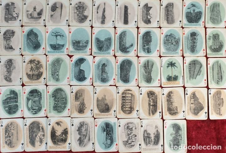 JUEGO DE 48 CARTAS. PLAYING CARDS. ESTADOS UNIDOS. PAMNAMA SOUVENIR. 1908. (Juguetes y Juegos - Cartas y Naipes - Otras Barajas)