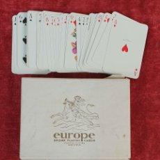 Barajas de cartas: JUEGO DE 54 CARTAS. EUROPE. DOBLE BARAJA. HERACLIO FOURNIER. 1962. . Lote 176240689