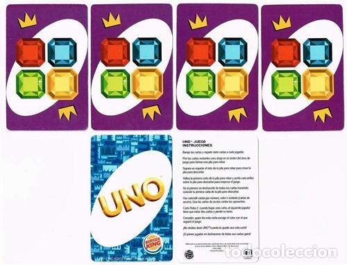 Barajas de cartas: UNO, baraja o mazo de juego de cartas - Mattel Games/Burger King, 2012 - Foto 7 - 176499399