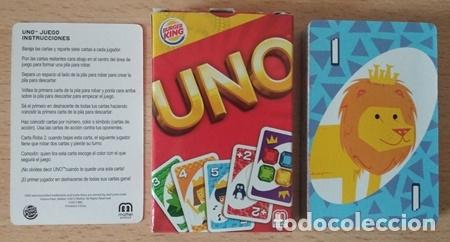 Barajas de cartas: UNO, baraja o mazo de juego de cartas - Mattel Games/Burger King, 2012 - Foto 2 - 176499399