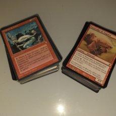 Barajas de cartas: LOTAZO 150 CARTAS ROJAS - MAGIC THE GATHERING. Lote 176543919