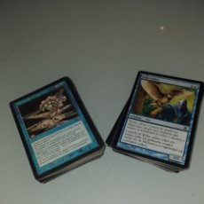 Barajas de cartas: LOTAZO 100 CARTAS AZULES - MAGIC THE GATHERING. Lote 176546023