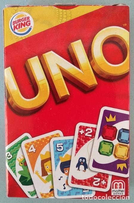 UNO, BARAJA O MAZO DE JUEGO DE CARTAS - MATTEL GAMES/BURGER KING, 2012 (Juguetes y Juegos - Cartas y Naipes - Barajas Infantiles)