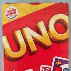 Barajas de cartas: UNO, BARAJA O MAZO DE JUEGO DE CARTAS - MATTEL GAMES/BURGER KING, 2012. Lote 176499399
