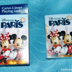 Barajas de cartas: JUEGO DE CARTAS DE MICKEY Y MINNIE MOUSE, DE DISNEYLAND PARIS.. Lote 176615499