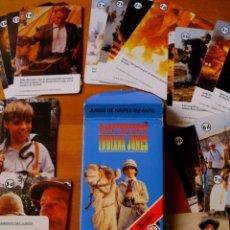 Baralhos de cartas: BARAJA DE CARTAS DE LAS AVENTURAS DEL JOVEN INDIANA JONES (FOURNIER). Lote 176904594