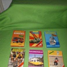 Barajas de cartas: 6 BARAJAS FOURNIER TANQUES VELEROS SERVICIO DE BOMBEROS ASES DEL CICLISMO LOCOMOTORAS PARIS DAKAR. Lote 176935669
