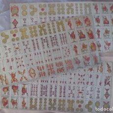Barajas de cartas: ESPECTACULAR JUEGO COMPLETO DE CARTAS MINIATURA DE RIFA, AÑOS 30. Lote 176946499