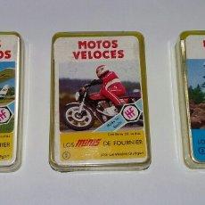 Barajas de cartas: LOTE MINIS DE FOURNIER. MOTOS VELOCES. BRAVURA EN MOTO. AVIONES DEPORTIVOS. MINI.. Lote 176951408