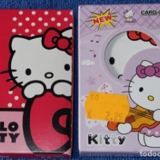 Barajas de cartas: HELLO KITTY - BARAJAS INFANTILES ¡IMPECABLES!. Lote 177017807