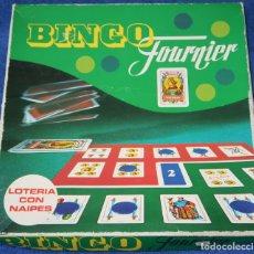 Barajas de cartas: BINGO FOURNIER - LOTERÍA CON CARTAS - FOURNIER (1976). Lote 177018343