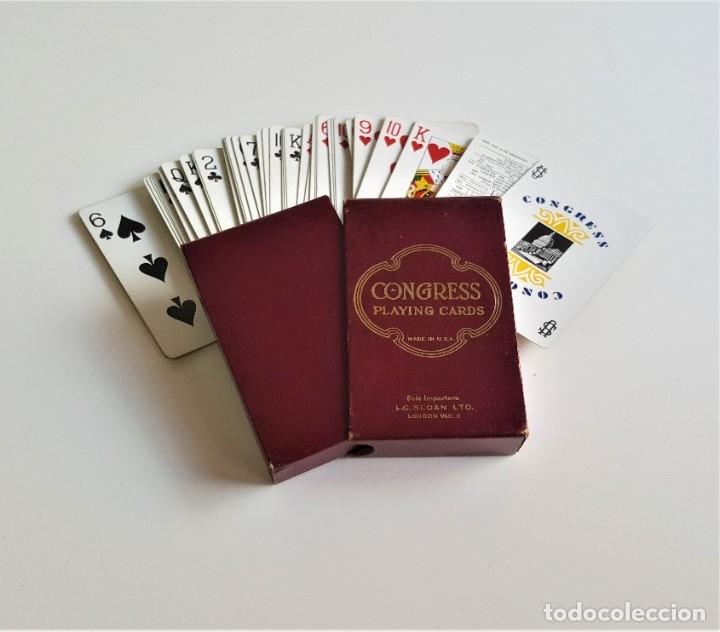 CONGRESS PLAYING CARDS MADE IN USA BARAJA CARTAS POKER COLECCION EN CAJA ORIGINAL (Juguetes y Juegos - Cartas y Naipes - Barajas de Póker)