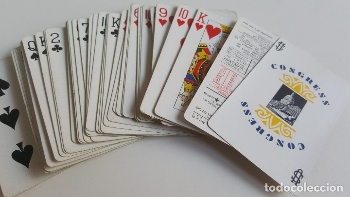 Barajas de cartas: CONGRESS PLAYING CARDS MADE IN USA BARAJA CARTAS POKER COLECCION EN CAJA ORIGINAL - Foto 2 - 177040552