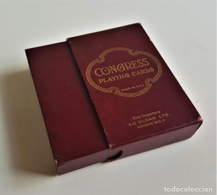 Barajas de cartas: CONGRESS PLAYING CARDS MADE IN USA BARAJA CARTAS POKER COLECCION EN CAJA ORIGINAL - Foto 4 - 177040552