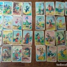 Barajas de cartas: BARAJA DE CARTAS DISNEY FAMILIAS - AÑOS 50 - 32 CARTAS COMPLETA -. Lote 177121229