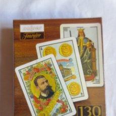 Barajas de cartas: BARAJA CONMEMORATIVA DEL 130 ANIVERSARIO DE NAIPES FOURNIER- PRECINTADA SIN ABRIR. Lote 177128899