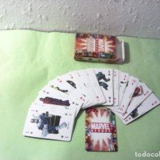 Barajas de cartas: MARVEL HEROES ANTIGUAS CARTAS DE POCKER. Lote 177409697