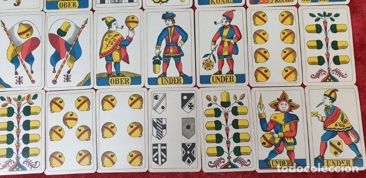Barajas de cartas: JUEGO DE CARTAS. 36 NAIPES. IMPRESO EN LITOGRAFÍA. J. MÜLLER. SUIZA. SIGLO XIX-XX - Foto 3 - 177459518