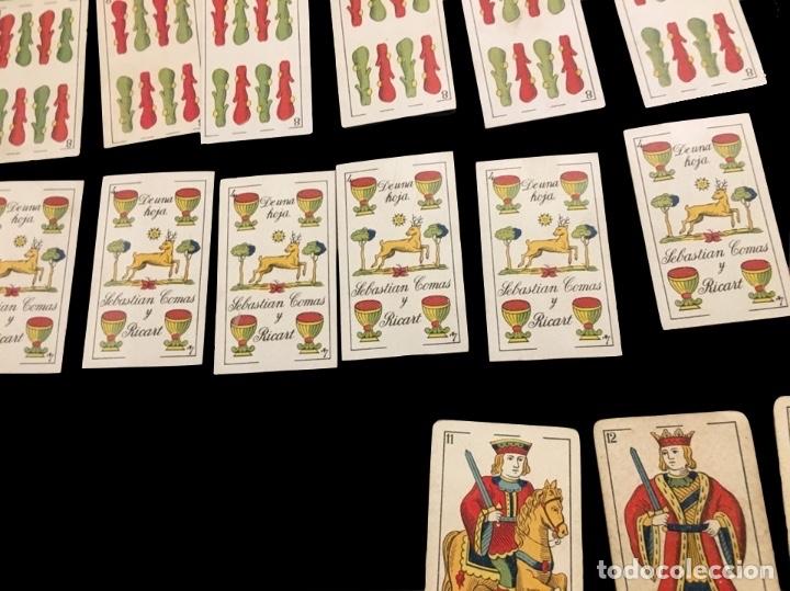 Barajas de cartas: Rarísimo juego de cartas para magia, Sebastián Comas y Ricart, Barcelona.Rareza. - Foto 4 - 176495302