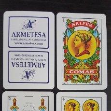Barajas de cartas: NAIPES-BARAJAS COMAS, Nº 7. TIPO RECLAMO: ARMETESA. Lote 177955605