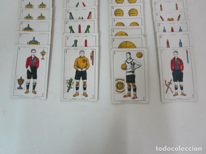 Barajas de cartas: Antigua Baraja de Futbol - Cromos de Chocolates A. Amatller - 48 Cartas, Completa - Años 20-30 - Foto 2 - 178209721