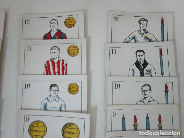 Barajas de cartas: Antigua Baraja de Futbol - Cromos de Chocolates A. Amatller - 48 Cartas, Completa - Años 20-30 - Foto 4 - 178209721