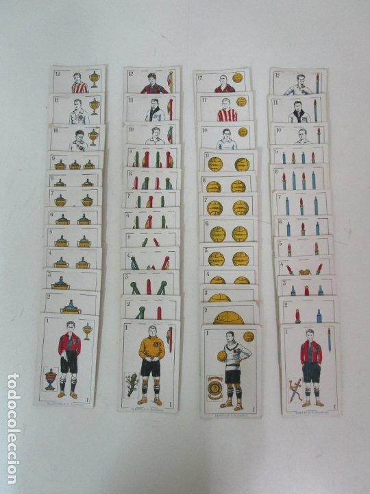 Barajas de cartas: Antigua Baraja de Futbol - Cromos de Chocolates A. Amatller - 48 Cartas, Completa - Años 20-30 - Foto 6 - 178209721