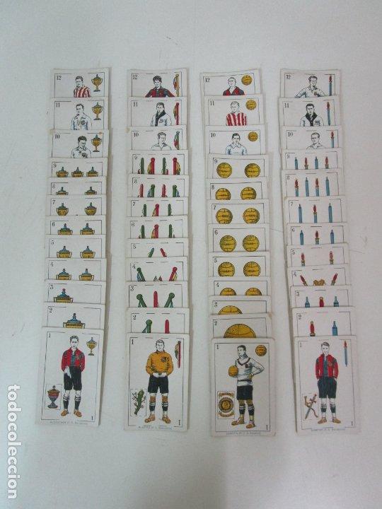 ANTIGUA BARAJA DE FUTBOL - CROMOS DE CHOCOLATES A. AMATLLER - 48 CARTAS, COMPLETA - AÑOS 20-30 (Juguetes y Juegos - Cartas y Naipes - Baraja Española)
