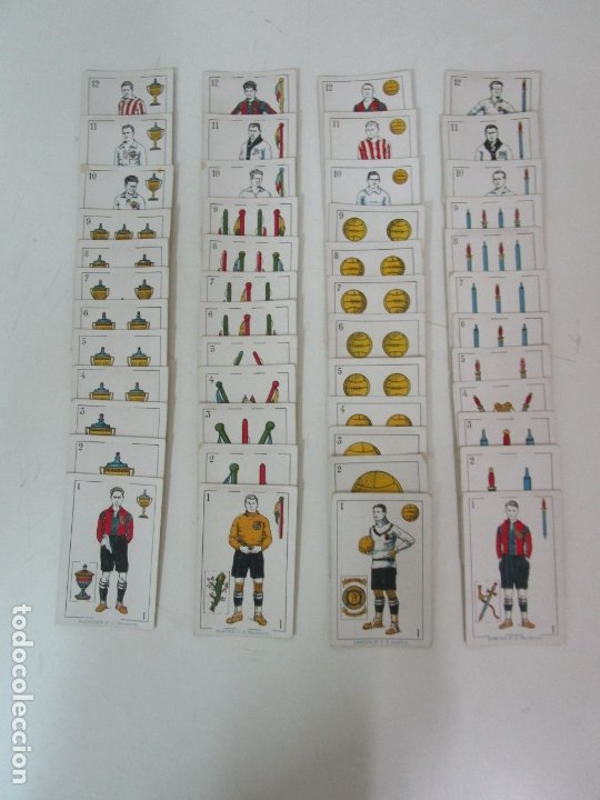 Barajas de cartas: Antigua Baraja de Futbol - Cromos de Chocolates A. Amatller - 48 Cartas, Completa - Años 20-30 - Foto 26 - 178209721