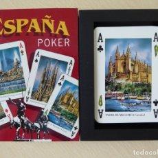 Barajas de cartas: POKER ESPAÑA. BARAJA DE 54 CARTAS DE POKER FABRICADAS POR NAIPES COMAS. Lote 178281605