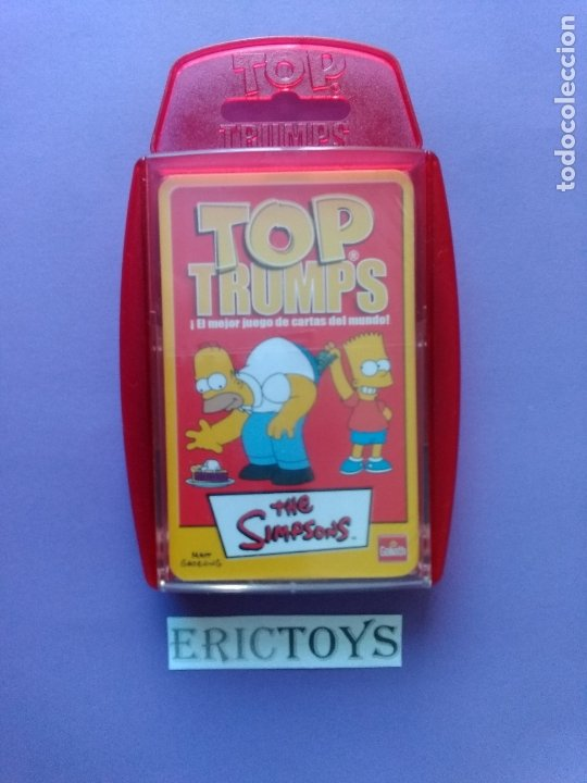 BARAJA THE SIMPSONS, TOP TRUMPS AÑO 2005 - NUEVA A ESTRENAR, PRECINTADA!!! - ERICTOYS (Juguetes y Juegos - Cartas y Naipes - Barajas Infantiles)