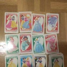 Barajas de cartas: SET LOTE DE 36 CARTAS UNO DE PRINCESAS, INCOMPLETA. Lote 178360681