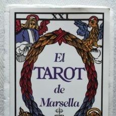 Barajas de cartas: TAROT DE MARSELLA , LIBRO + CARTAS NAIPES . NUEVO. Lote 178378358