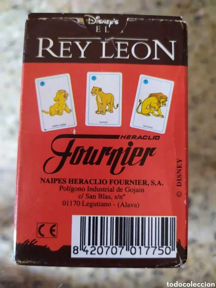 Barajas de cartas: ~ BARAJA CARTAS FOURNIER EL REY LEÓN 3, HERACLIO FOURNIER, DISNEY ~ - Foto 2 - 178630823