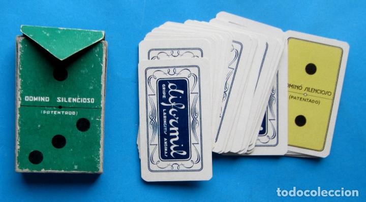 Barajas de cartas: DOMINÓ SILENCIOSO. DIFORMIL. REGALO DE F. E. DE PRODUCTOS QUÍMICOS Y FARMACÉUTICOS, BILBAO, S/F. - Foto 2 - 178670645