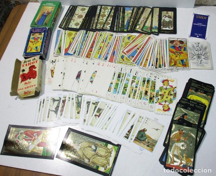 LOTE BARAJAS DE TAROT, INCOMPLETAS (Juguetes y Juegos - Cartas y Naipes - Barajas Tarot)