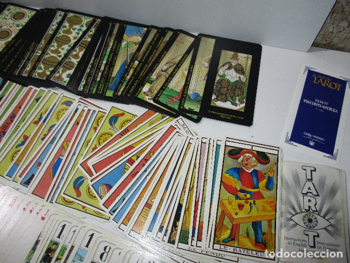 Barajas de cartas: lote barajas de TAROT, incompletas - Foto 4 - 178736685
