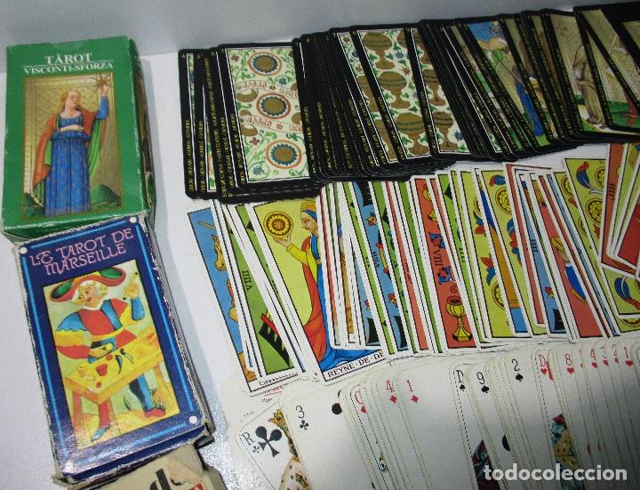 Barajas de cartas: lote barajas de TAROT, incompletas - Foto 5 - 178736685