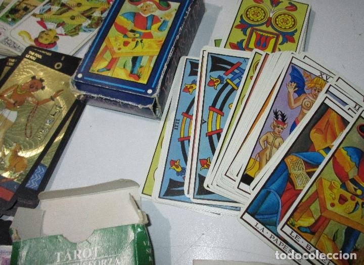 Barajas de cartas: lote barajas de TAROT, incompletas - Foto 10 - 178736685