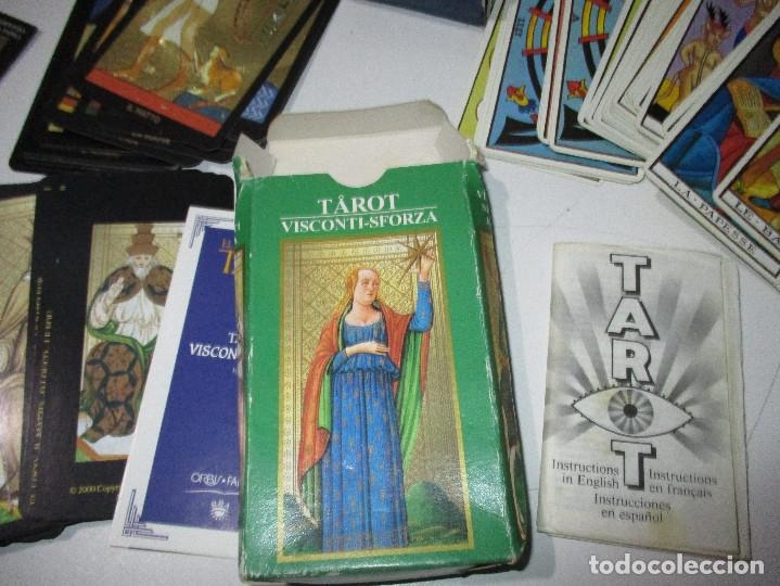 Barajas de cartas: lote barajas de TAROT, incompletas - Foto 11 - 178736685