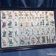 Barajas de cartas: BARAJA COMPLETA NAIPES CHOCOLATES ADARRAGA HERNANI GUIPUZCOA JUGADORES FUTBOL NIÑOS JUEGOS ENMARCADA. Lote 178746471