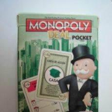 Barajas de cartas: BARAJA DE CARTAS MONOPOLY DEAL POCKET HASBRO. Lote 178913456