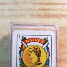 Barajas de cartas: MINI CARTAS COMAS NAIPES CON CAJA. Lote 178971465