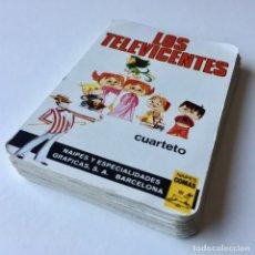 Barajas de cartas: BARAJA DE CARTAS - LOS TELEVICENTES - INCOMPLETA - AÑOS 70. Lote 179005523