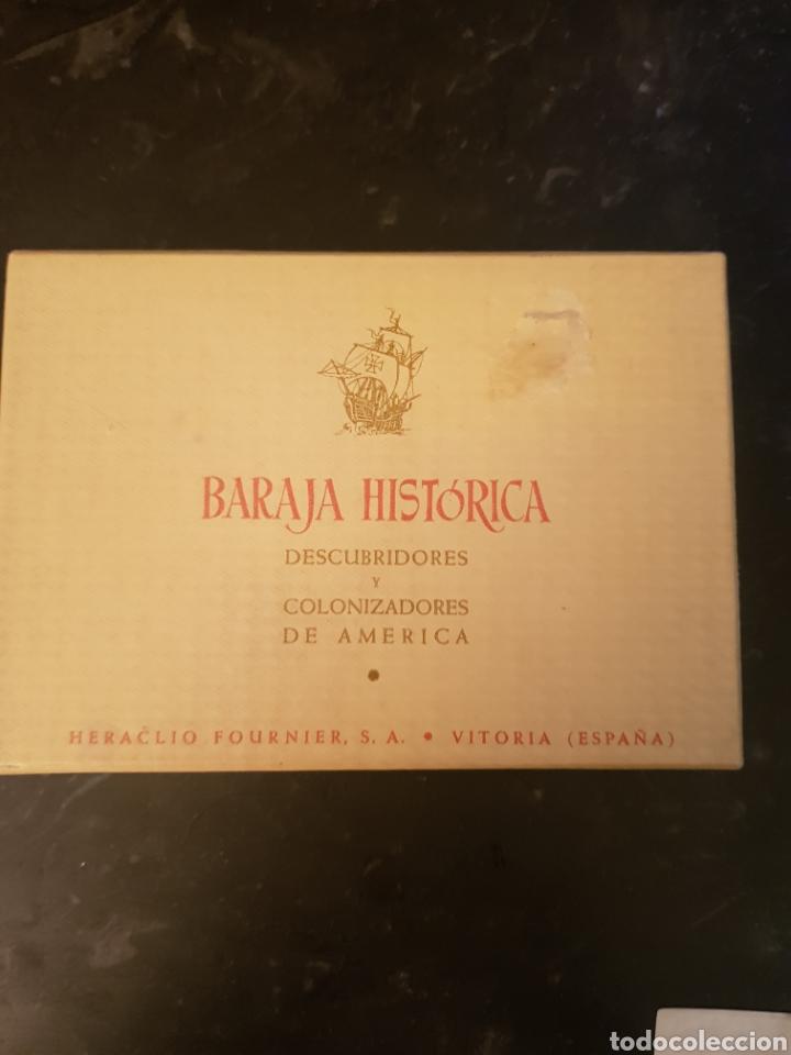 Barajas de cartas: BARAJA HISTORICA DESCUBRIDORES Y COLONIZADORES DE AMERICA 1958 - Foto 2 - 179035660