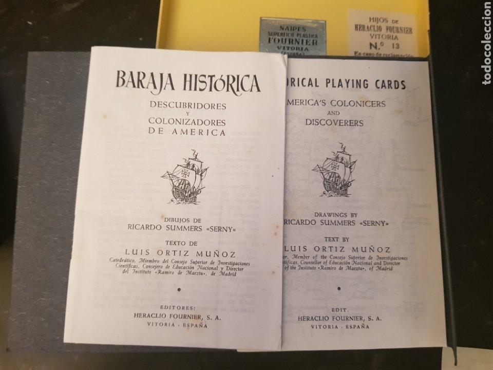 Barajas de cartas: BARAJA HISTORICA DESCUBRIDORES Y COLONIZADORES DE AMERICA 1958 - Foto 4 - 179035660