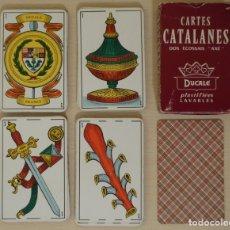 Barajas de cartas: BARAJA DE 48 'CARTAS CATALANAS' CON REVERSO ESCOCÉS 'AXÉ'. FABRICADAS EN FRANCIA POR DUCALE. Lote 179039627