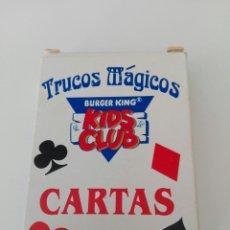 Barajas de cartas: BARAJA DE CARTAS TRUCOS MAGICOS.KIDS CLUB.BURGER KING. Lote 179195657
