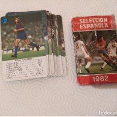 Jeux de cartes: BARAJA SELECCION ESPAÑOLA 1982. HERACLIO FOURNIER. COMPLETA 32 CARTAS. USADA. LEER DESCRIPCION.. Lote 179315973